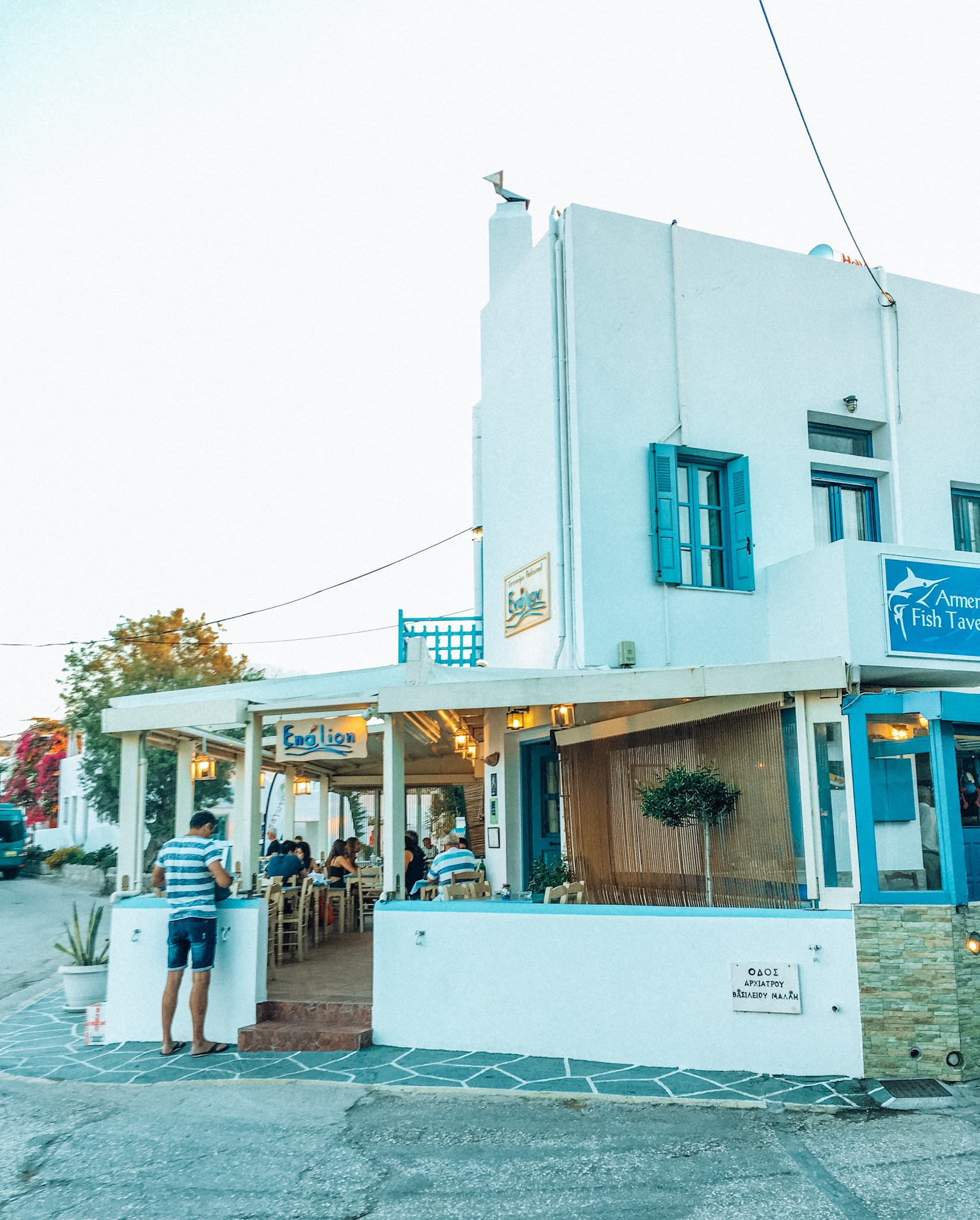 Best seafood in Milos Greece - Enalion Pollonia