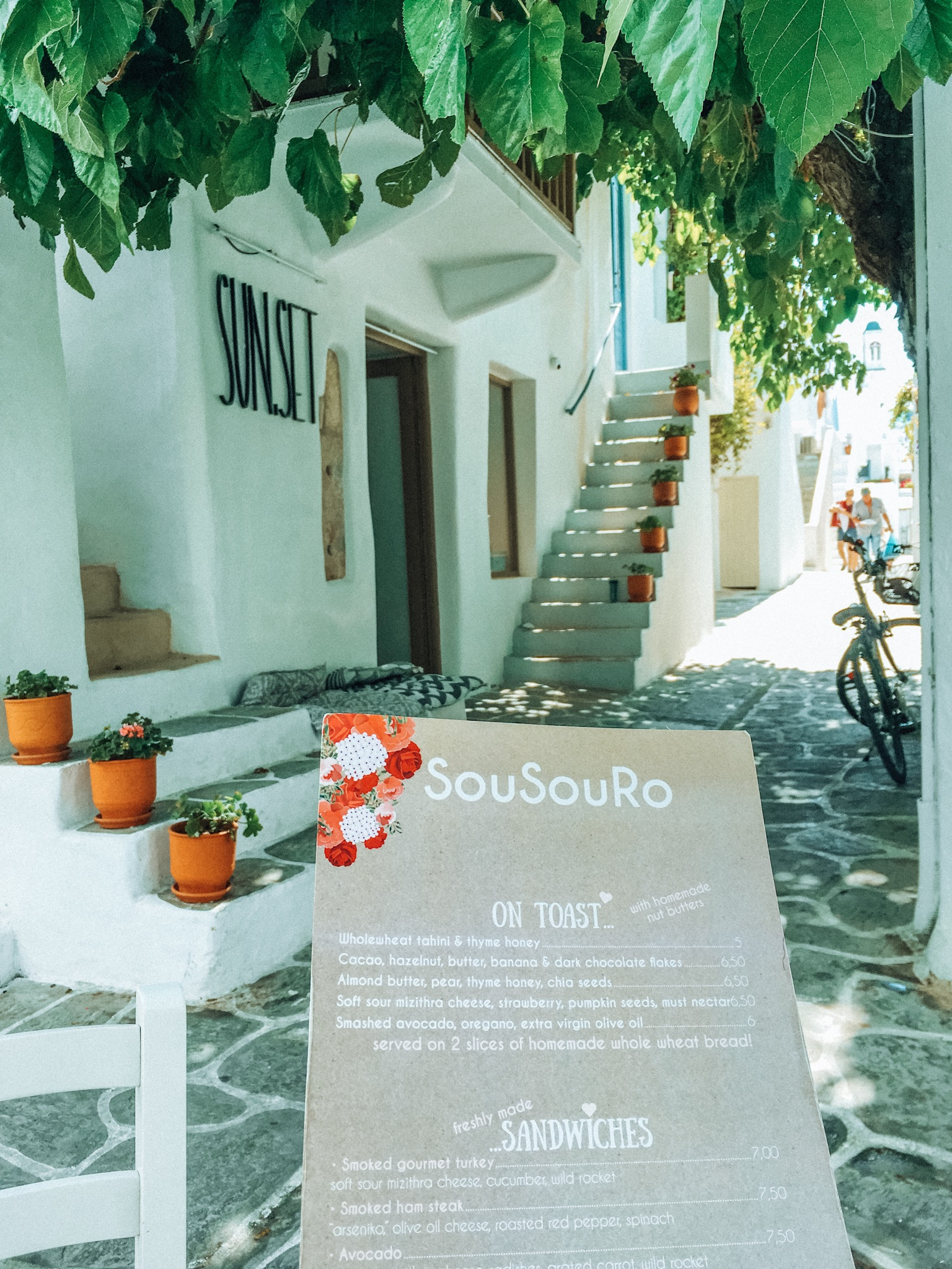 paros cafe greece guide